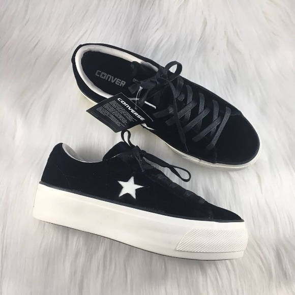 abe1ef9627f Converse Shoes   Womens One Star Velvet Platform Ox   Poshmark
